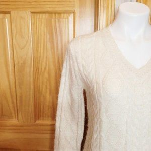 J.Crew Cable-Knit V-neck Small Sweater